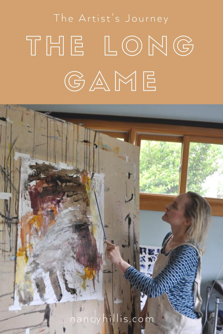 The Artist's Journey: The Long Game – Nancy Hillis – – Abstract Painting Workshops, Courses & Tutorials
