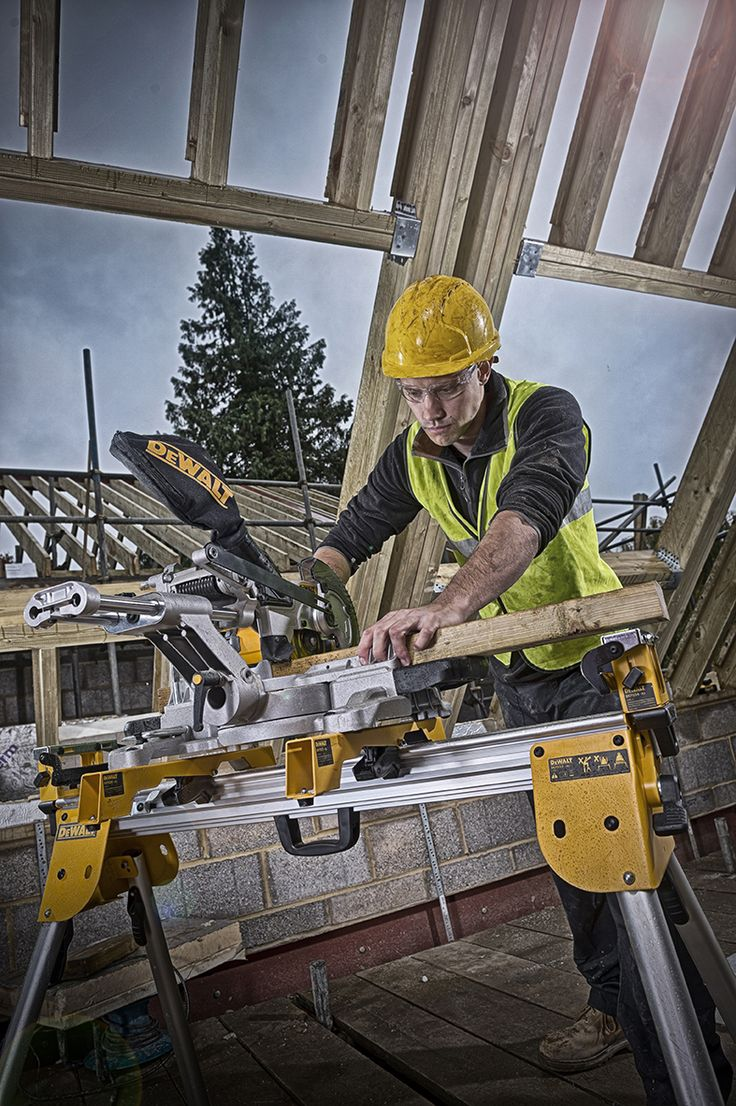 DEWALT's new battery powered Mitre compound saw.