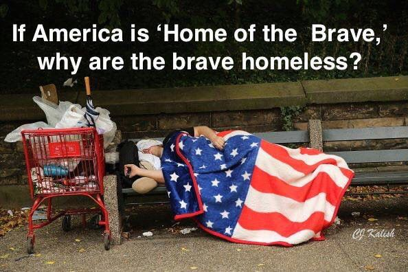Why would we take care of refugees from other countries when our own citizens..especially our own veterans are hungry and sleeping on the streets ❤️ Yes we are a nation of compassion..but why not to our own?