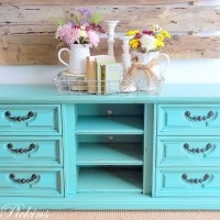 70's dresser as tv console... Love this, and I happen to have one of these!  ;)