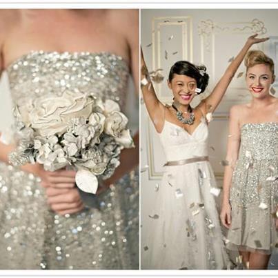 Sparkly #bridesmaid dress! Image via Wedding Gifts Direct.