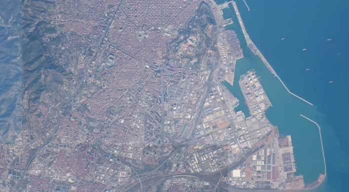 Barcelona desde la Estación Espacial