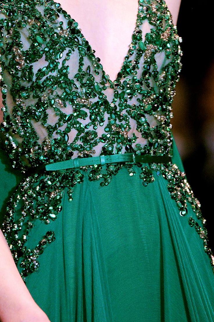 Elie Saab Couture F/W 2013 #emerald #runwayfashion