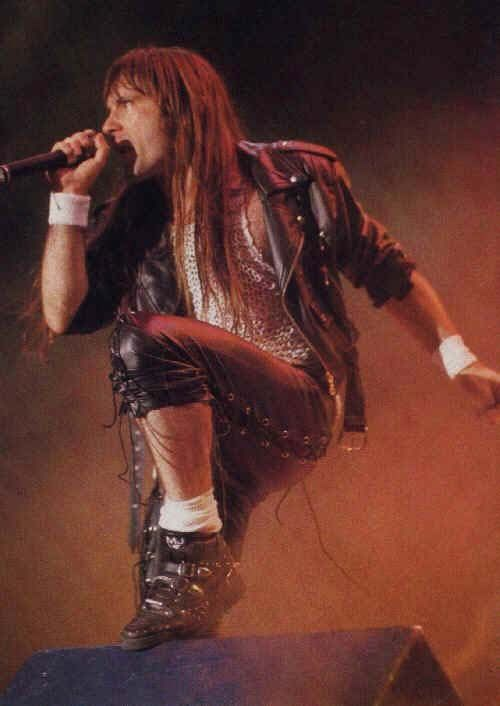 Bruce Dickinson - always one to rock the leather.