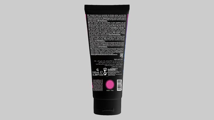 Diseño de tubo para tinte de pelo semi-permanente.
