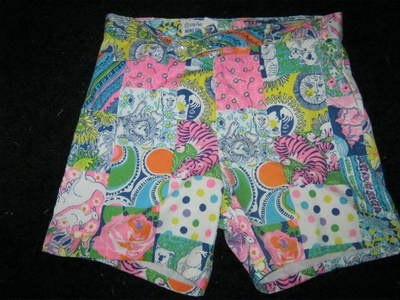 OK, so I just went into a last minute blind bidding rage on eBay and got these for Matt. His second pair of Lilly swim trunks, second piece of vintage Lilly. I think these are the same print as those ridiculous pants I posted recently!