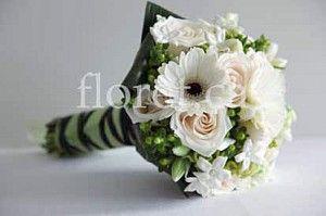 Fresh Green And White Wedding Bouquet