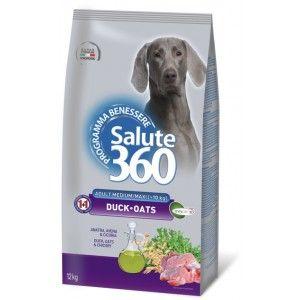 SALUTE 360 - Hrana pentru caini adulti cu rata si ovaz