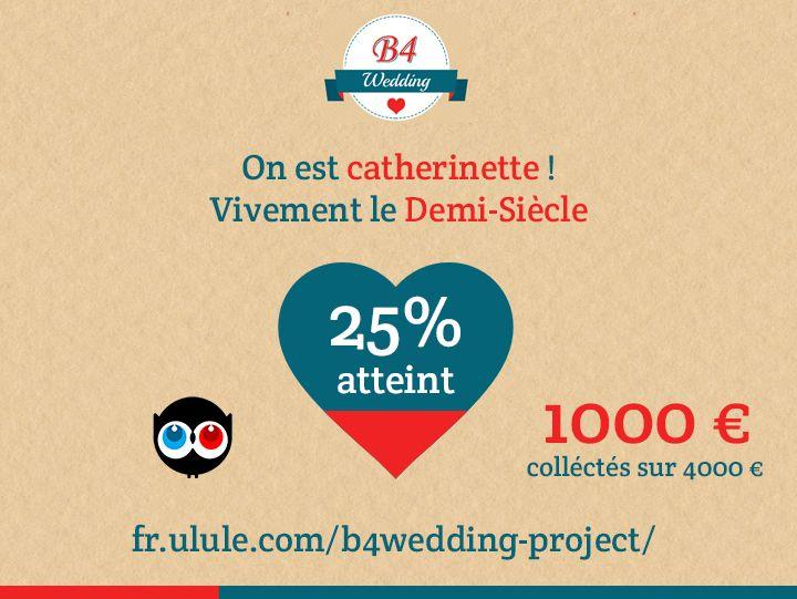 Notre campagne stagne ! N'hésitez pas à vous pré-abonner à notre service ! http://fr.ulule.com/b4wedding-project/  #b4wedding #wedding #mariage #ulule #collecte #crowdfunding