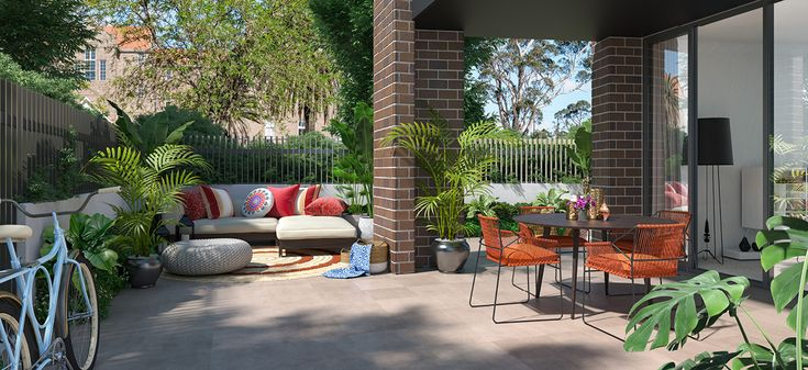 highline westmead private outdoor area leafy garden apartment