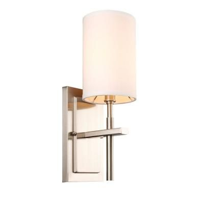 Hampton Bay Remington 1 Light Brushed Nickel Sconce