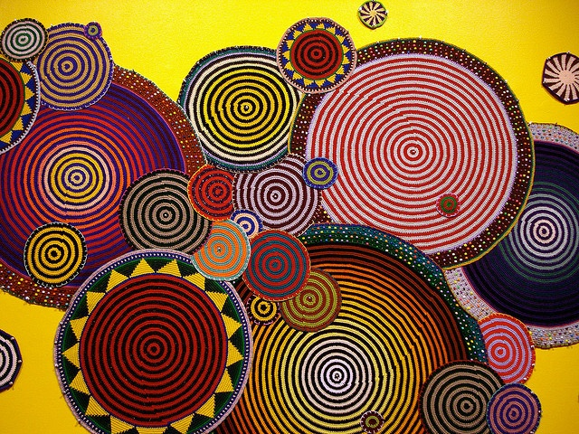 'Mandalas' by American fiber artist Xenobia Bailey (b.1955). Crochet. via mryipyop on flickr