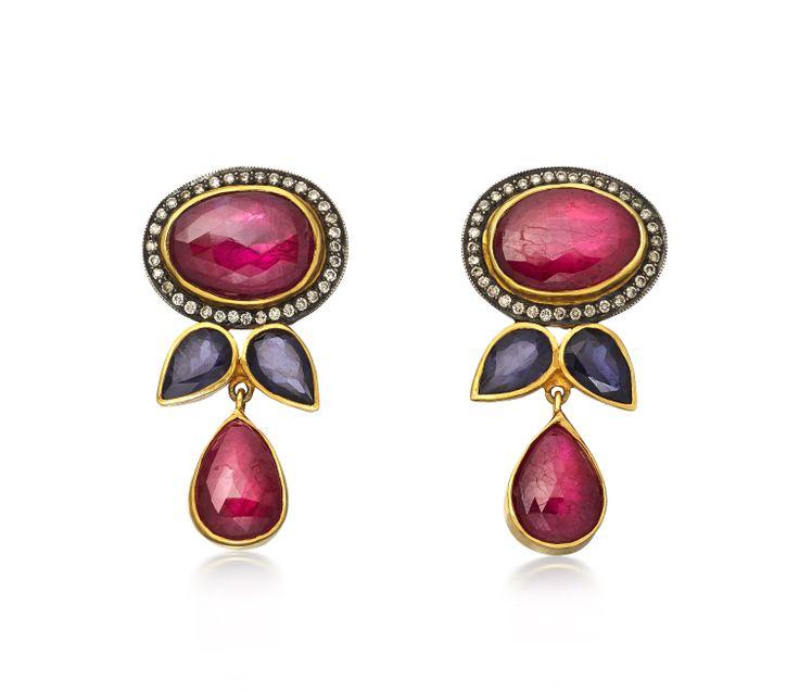 Petals Ruby Earrings by Amrapali