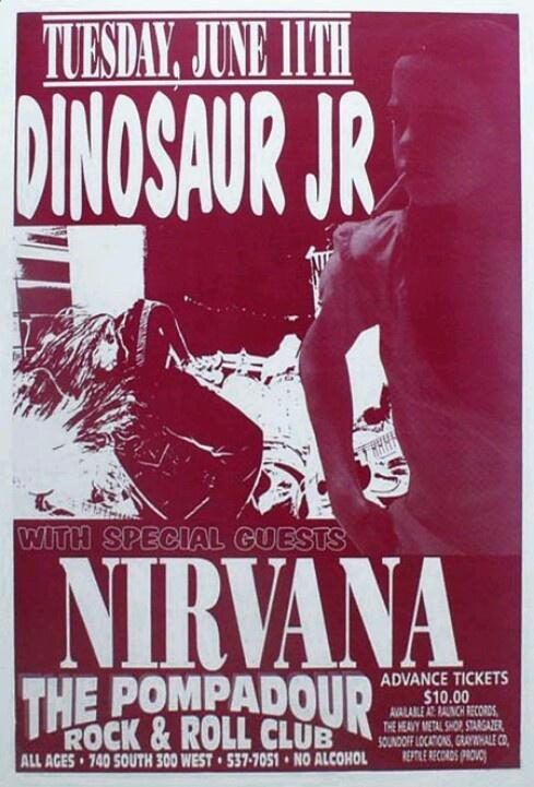 Dinosaur Jr × Nirvana concert poster