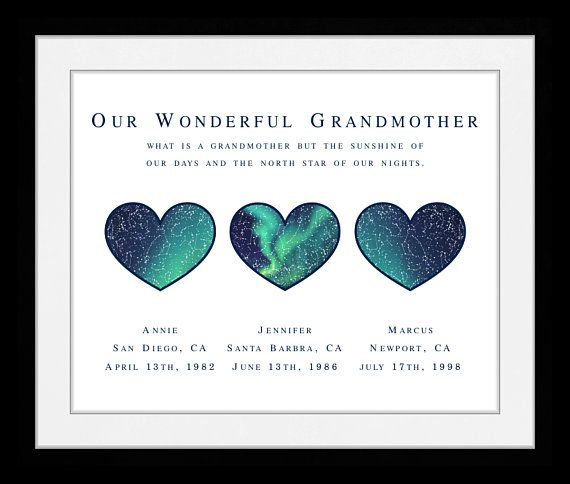 Gift For Grandma Personalized Grandparents Present Great Grandmother Mother Birthday Gifts For Sister Personalized Gifts For Mom Birthday Presents For Grandma