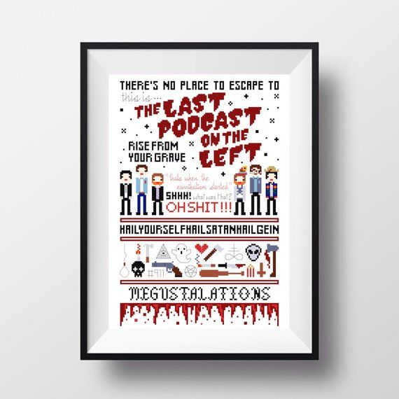 The Last Podcast On The Left Sampler Cross Stitch Pattern Cross Stitch Patterns Cross Stitch Podcasts Shop marcus parks masks created by independent artists from around the globe. the left sampler cross stitch pattern