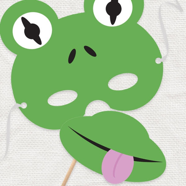 DIY party costume mask  freeky frog  printable file by iDIYjr, $5.00