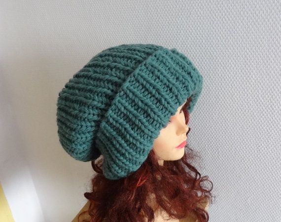 Super Slouchy Beanie Big Slouchy Baggy Winter warm hat by Ifonka