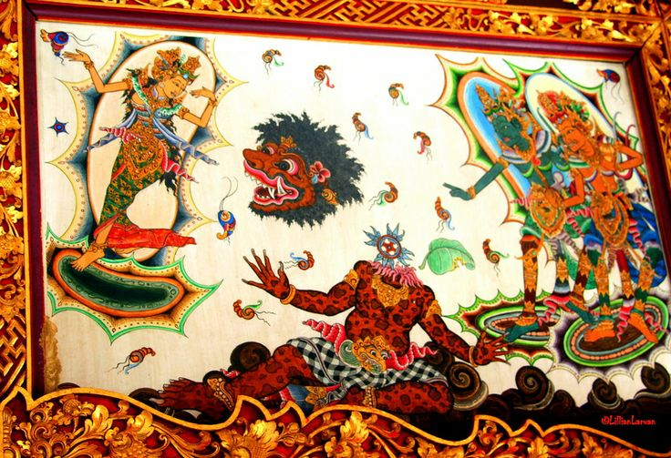 LOL! another painting which may be an important story from numerous holy text of Hindu #Bali