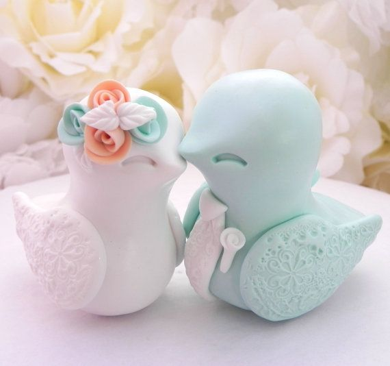 White Birds For Wedding Cakes