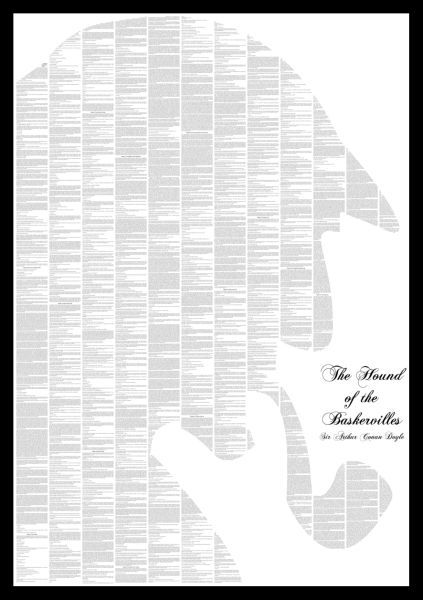 Spineless Classics The Hound of the Baskervilles Print: Image 01 - This would be good in the study!
