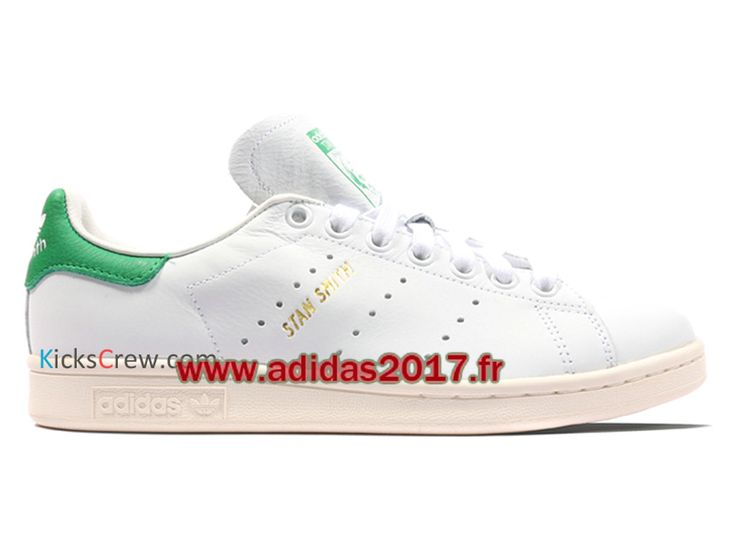 Adidas Stan Smith - Chaussure Adidas Originals Pas Cher Pour Homme/Femme Voile Verte Blanche S75074