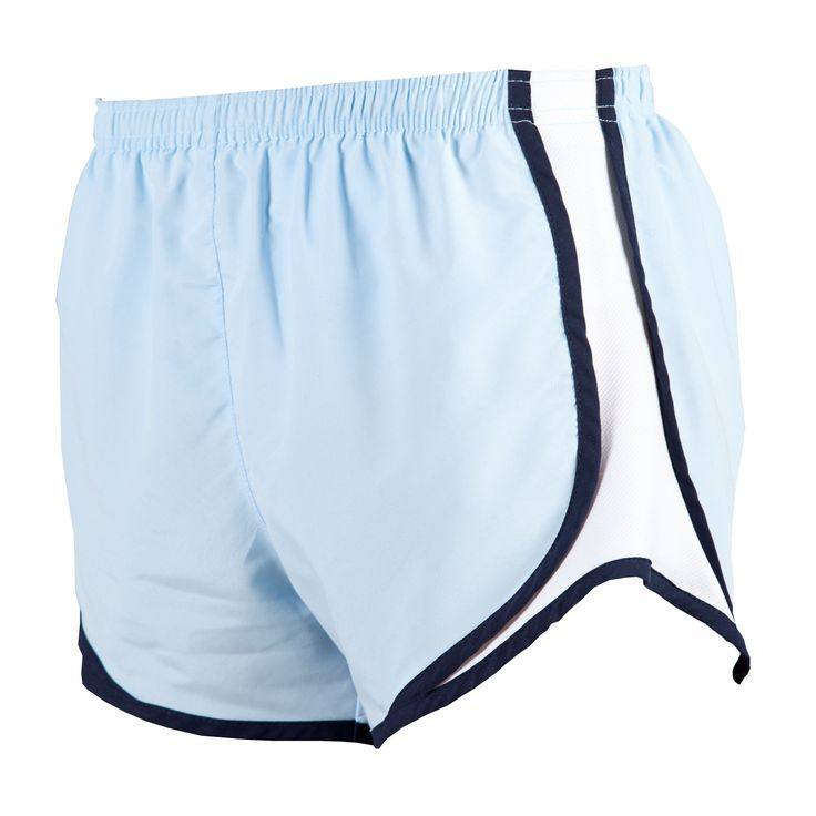 Ice Blue/Navy-White Running Shorts