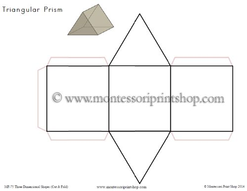 Three Dimensional Shapes: Cut And Fold Printables For 12
