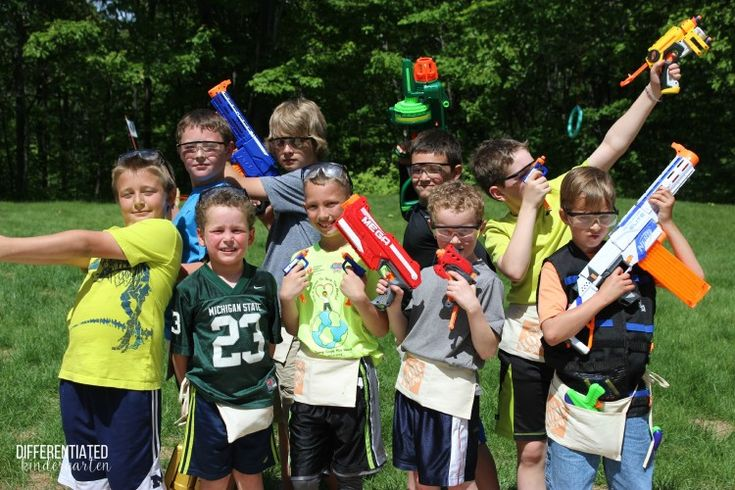 It's Nerf or Nothing Party Time!  The ultimate FUN party for the little boy in your life!!! Free printables.