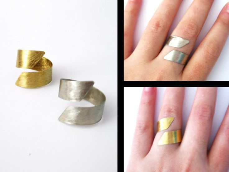 nickel silver and brass rings