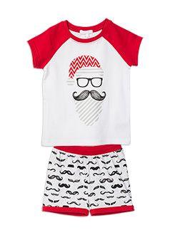 Santa moustache PJ set - yes please! #PumpkinPatchKids