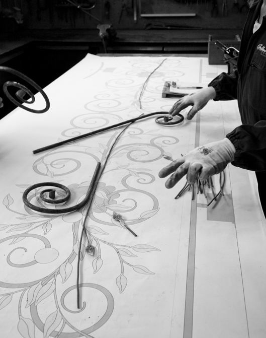Everything is entirely produced and painted by hand