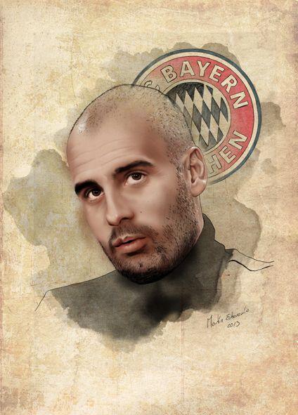 Pep Guardiola Thinking about FC Bayern Munchen by Martin Echeverria, via Behance