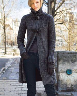 вязаное пальто с мехом - Поиск в Google