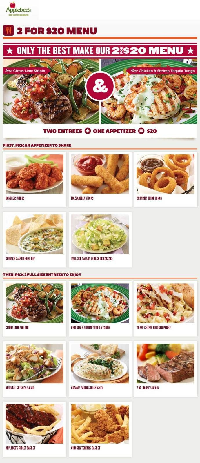 Applebees carside to go coupon code