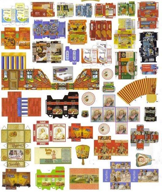 De 235 Bästa Miniature Printables-bilderna På Pinterest