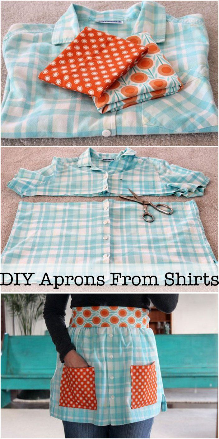 Flannel shirt apron   best My Style images on Pinterest  Aprons Sewing patterns and