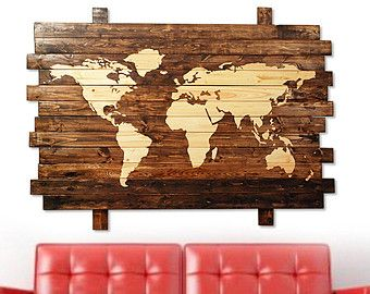 The 25 best rustic world globes ideas on pinterest world map extra large rustic world map stained wall art on distressed by pyneandsteele etsy gumiabroncs Choice Image