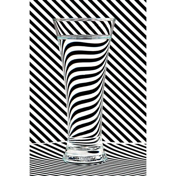 #BlackandWhite #Stripes by Steve Purnell #water #glass
