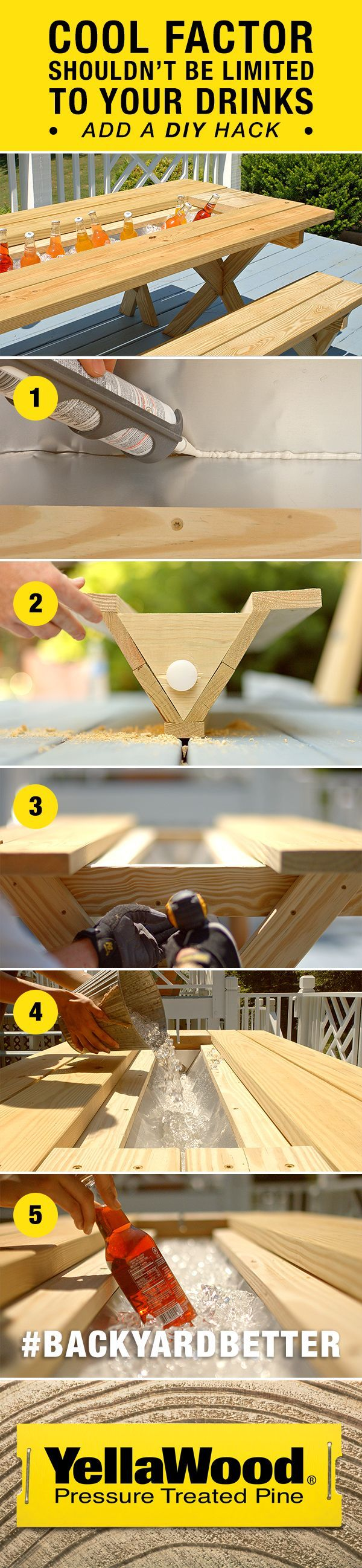 Throw the perfect summer party with this outdoor DIY picnic table project.
