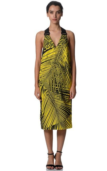 Yellow Palm Long Line Tank Dress by Josh Goot. Shop now at Ozsale for only $89 instead of $595.