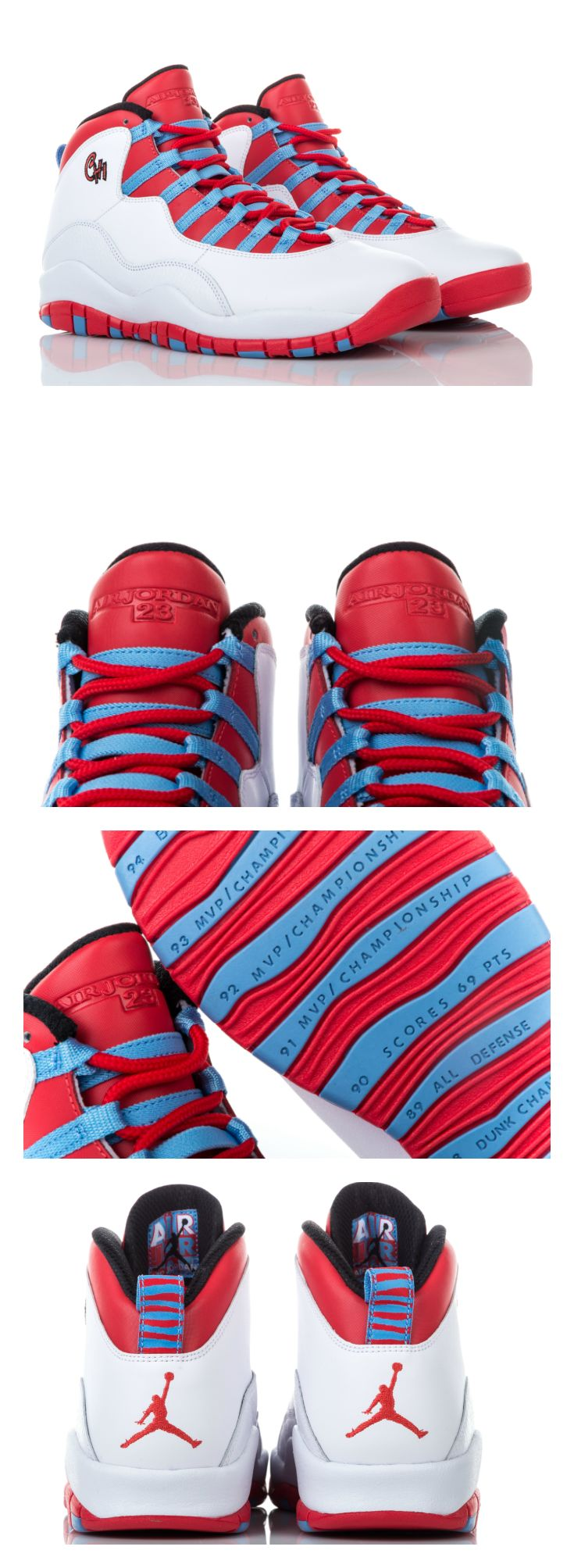 Rep the shoe that reps your city: the Jordan Retro 10 'Chicago'.