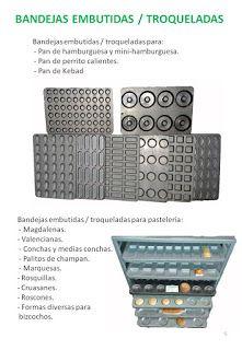 COBEPAN.ES maquinaria y accesorios para Panaderia y Pasteleria.: bandejas embutidas/troqueladas.