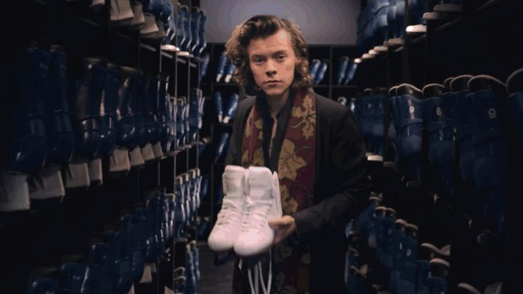 """When Harry helped you tie your skates: 