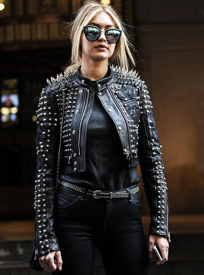 Here's how to style that fab new leather jacket like a supermodel