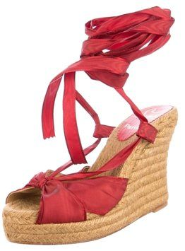 Christian Louboutin Summer Red Wedges on Sale, 70% Off | Wedges on Sale at Tradesy