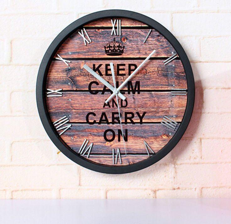Купить товар12 '' сохранять спокойствие и вести старинные настенные часы для кофе круглый 3D стерео молчание номера для тикают кварцевые часы в категории Настенные часына AliExpress.             Характеристика:                        100% новый                 Цвет: белый, черный, красный