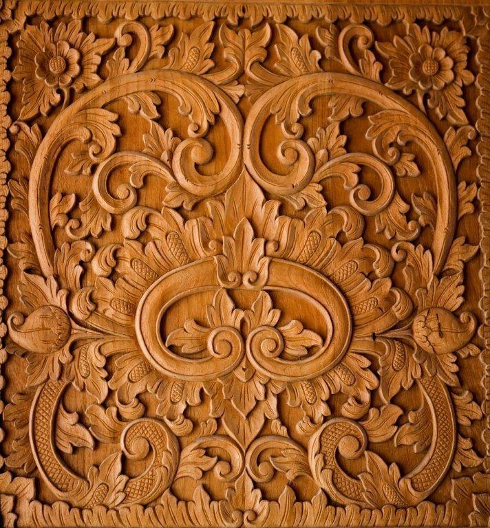 Nandana villa grand bahama teak design materials