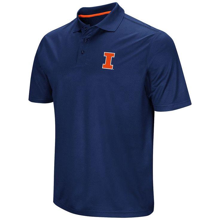 Men's Campus Heritage Illinois Fighting Illini Polo, Size: Medium, Blue (Navy)