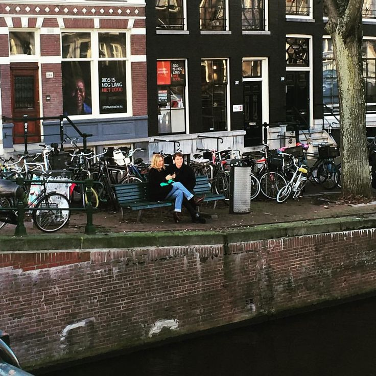 I enjoy every moment as I enjoy every picture. — Nice place for a date   #amsterdamcanals...